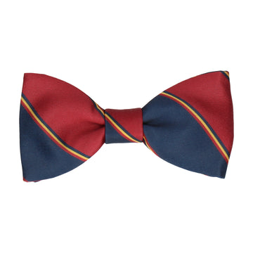 Red & Navy Regimental Stripe Bow Tie