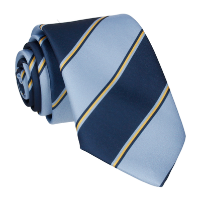 Blue & Yellow Regimental Stripe Tie