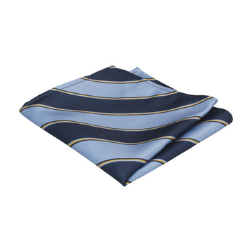 Arundel in Blue & Yellow Pocket Square