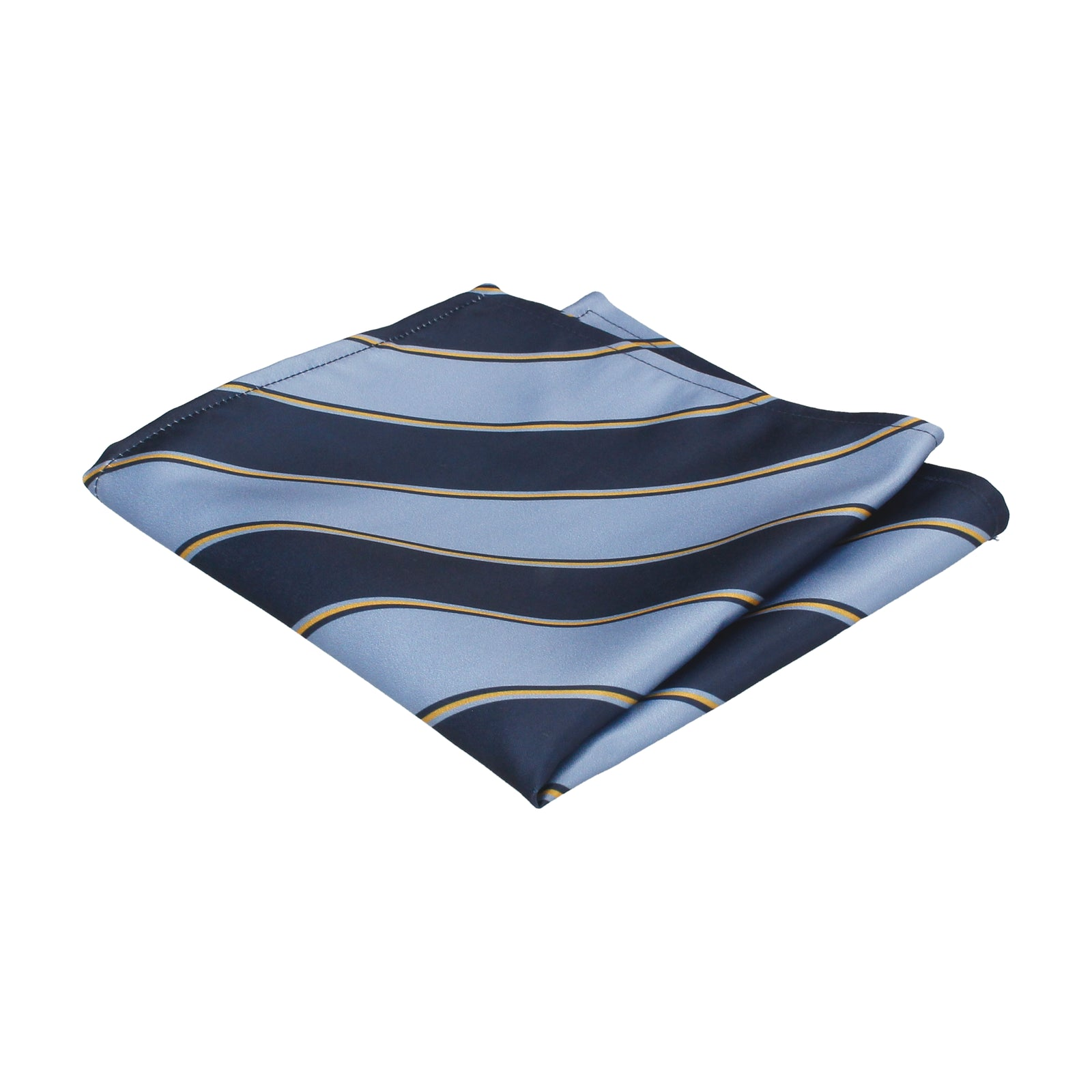 Blue & Yellow Regimental Stripe Pocket Square