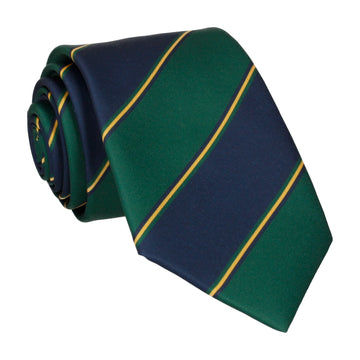 Green & Navy Regimental Stripe Tie