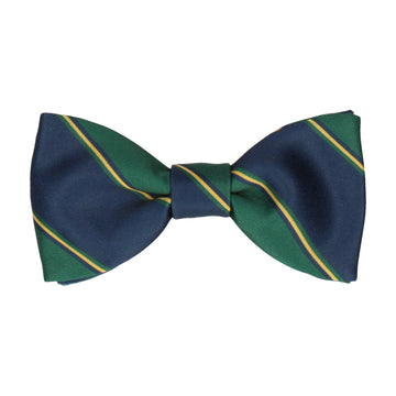 Green & Navy Regimental Stripe Bow Tie