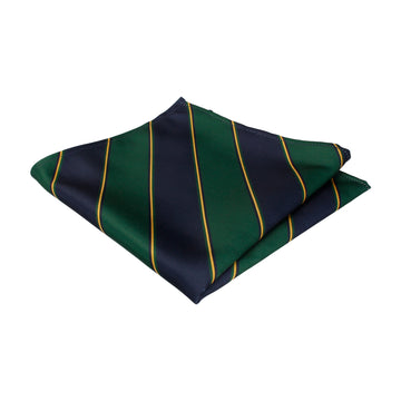 Arundel in Green & Navy Pocket Square