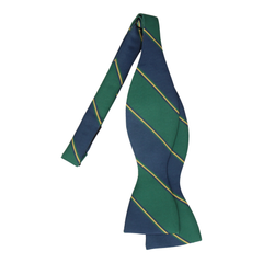 Arundel Green & Navy Bow Tie