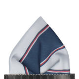 Arundel in Grey & Navy Pocket Square