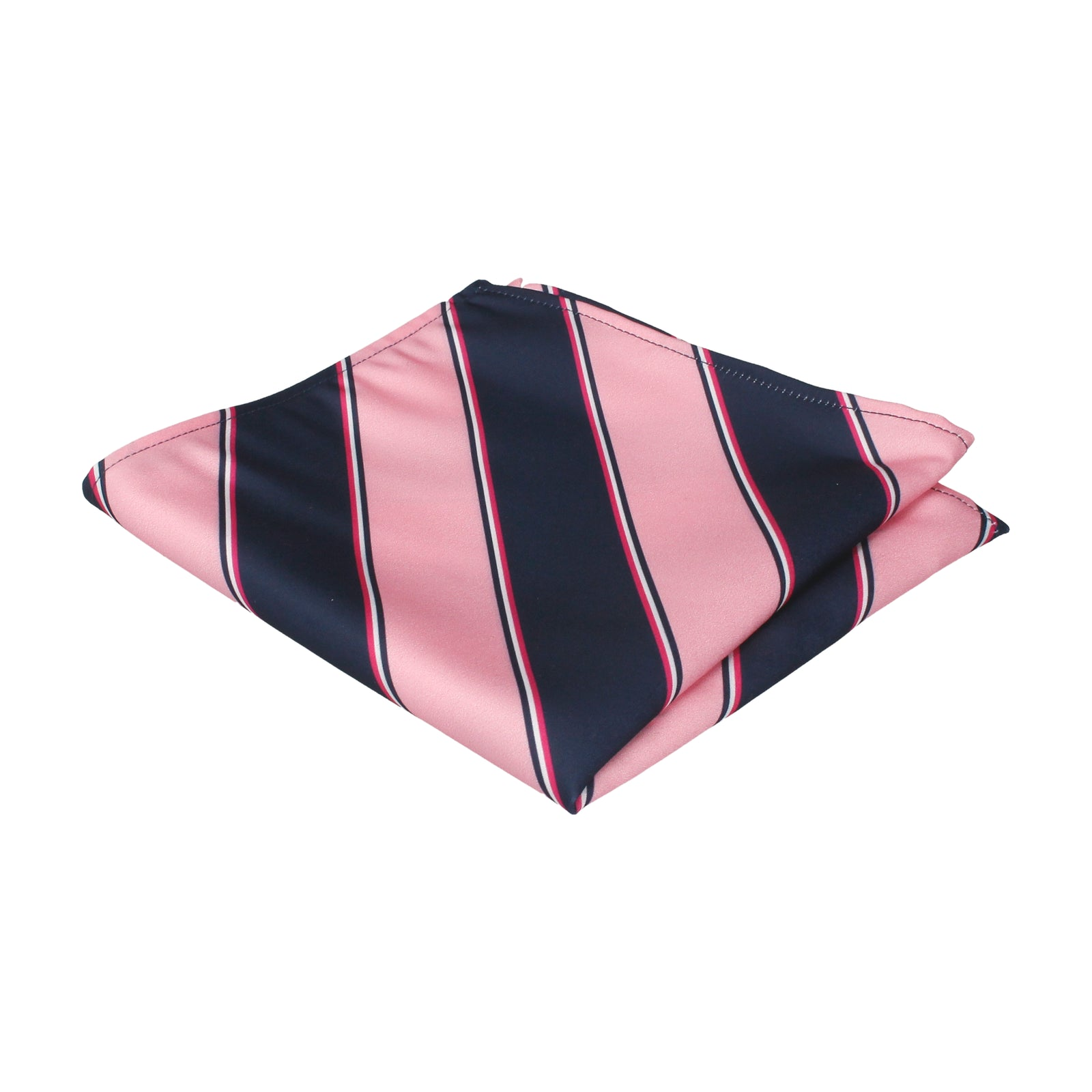Arundel in Pink & Navy Pocket Square