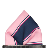 Pink & Navy Regimental Stripe Pocket Square