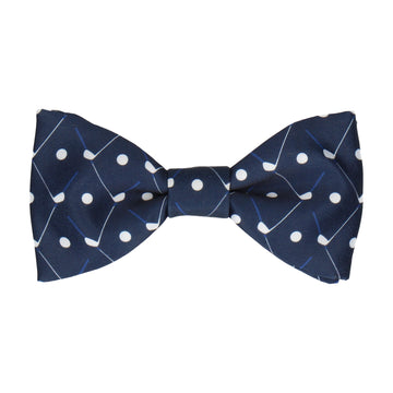 Golf Plaid in Navy Blue Bow Tie