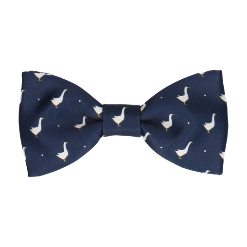 Geese in Navy Blue Bow Tie