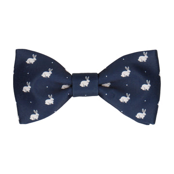 White Rabbits Navy Blue Bow Tie