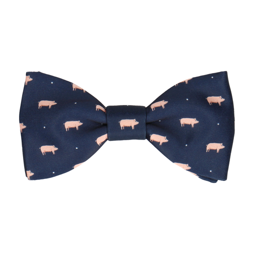 Pigs Navy Blue Bow Tie