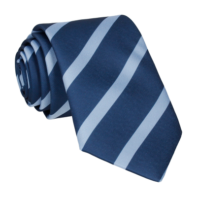 Navy & Blue Stripe Blue Tie