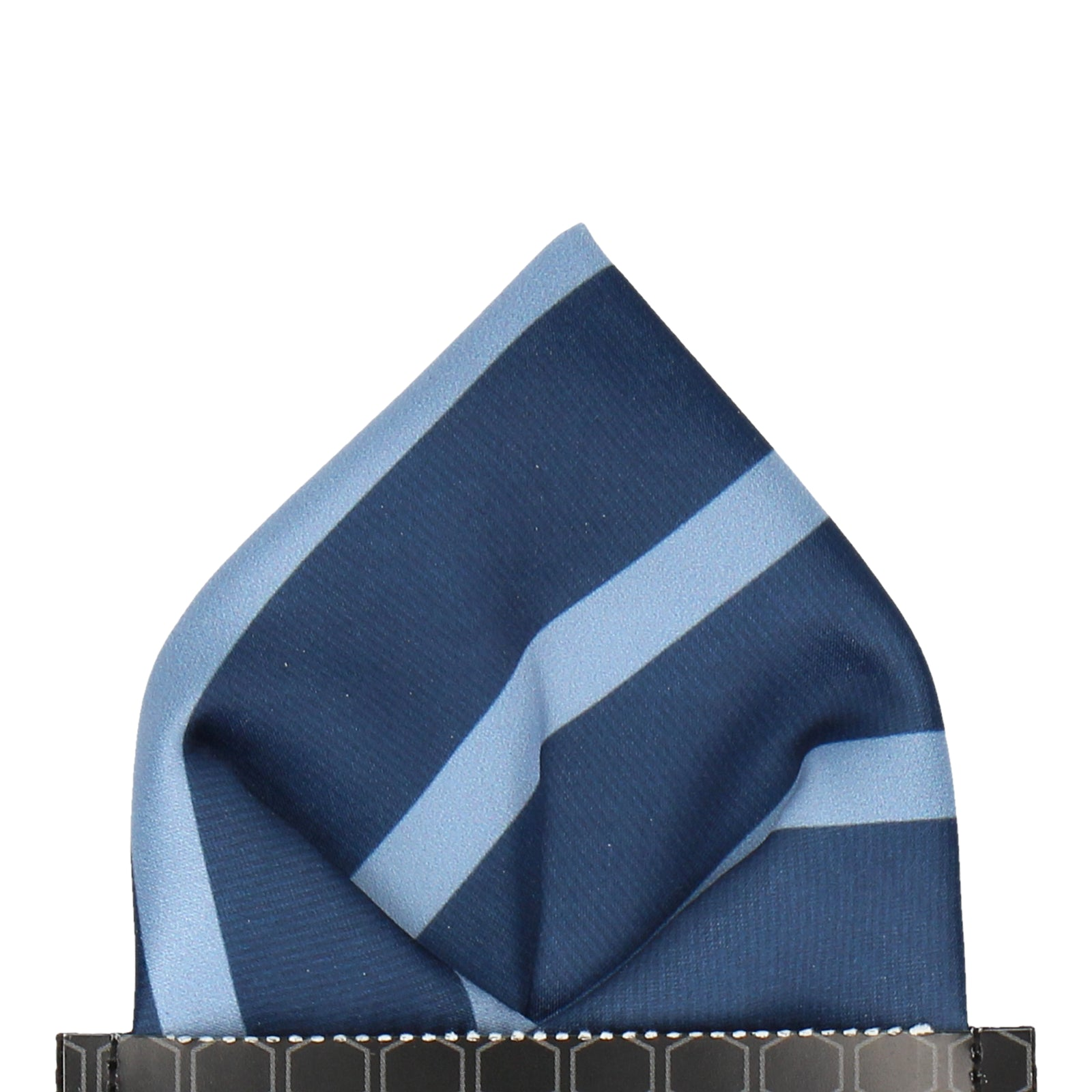 Navy & Blue Stripe Pocket Square
