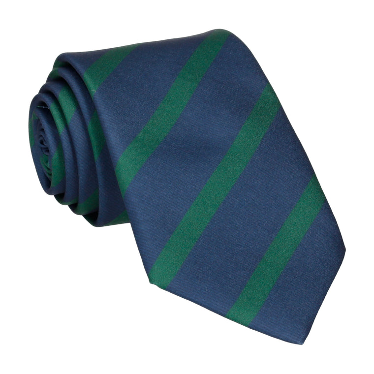 Green & Navy Stripe Tie