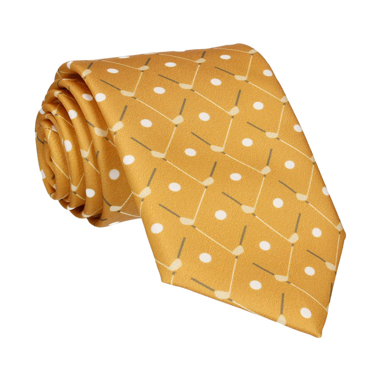 Golf Plaid Yellow Gold Tie