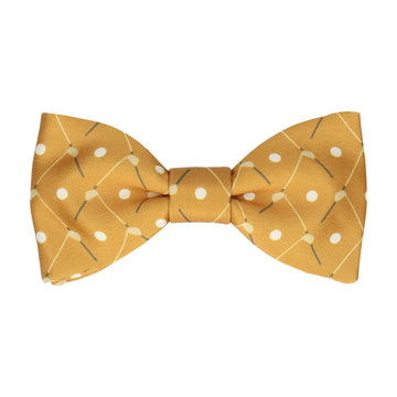 Golf Plaid Yellow Gold Bow Tie