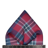 Bordeaux Red Modern Tartan Check Pocket Square