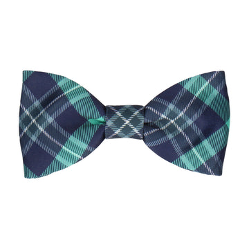 Green Modern Tartan Check Bow Tie
