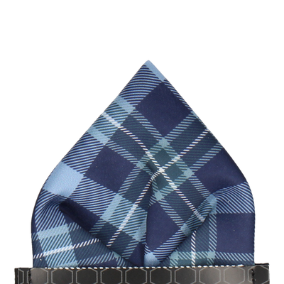 McEwen in Steel Blue Pocket Square