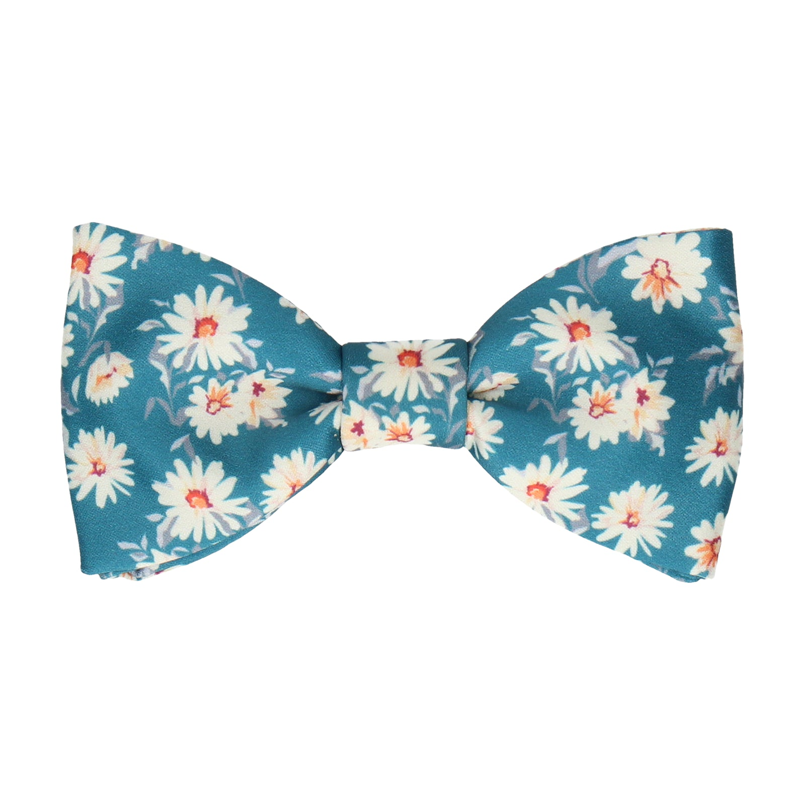 Daisy Print Emerald Sea Teal Bow Tie