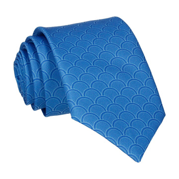 Royal Blue Wedding Fans Tie