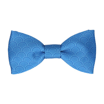 Royal Blue Wedding Fans Bow Tie