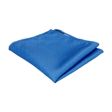 Royal Blue Wedding Fans Pocket Square