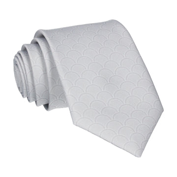 Platinum Grey Wedding Fans Tie