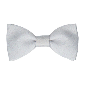 Platinum Grey Wedding Fans Bow Tie