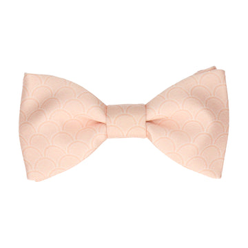 Light Peach Wedding Fans Bow Tie