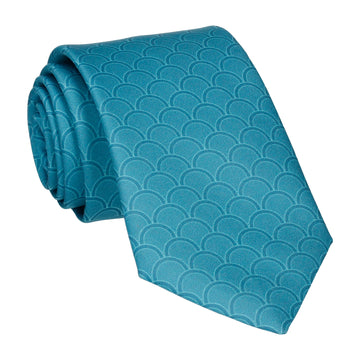 Emerald Sea Teal Wedding Fans Tie