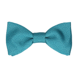 Emerald Sea Teal Wedding Fans Bow Tie