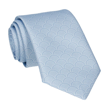 Steel Blue Wedding Fans Tie