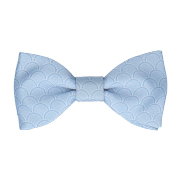 Steel Blue Wedding Fans Bow Tie