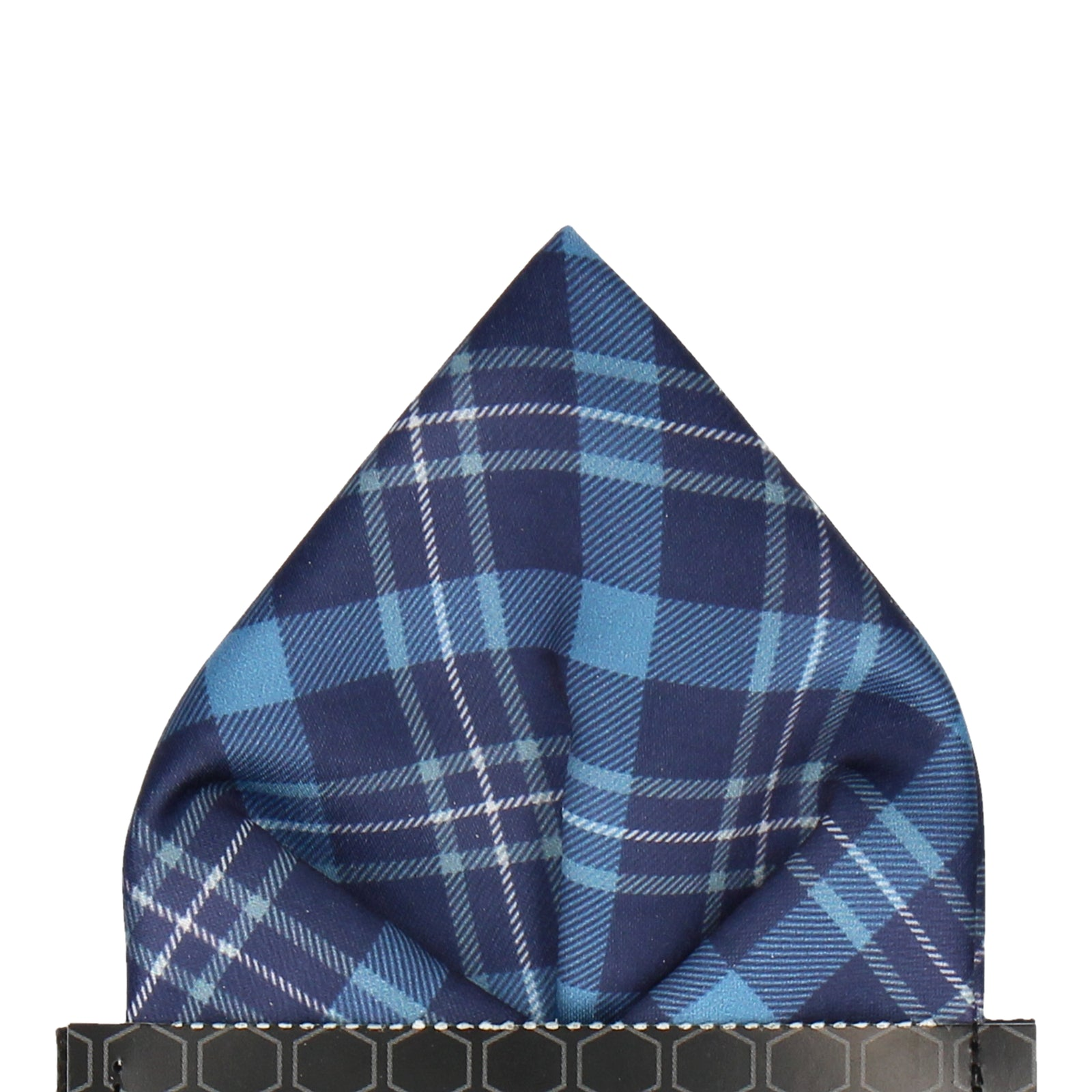 Inverness in Blue Pocket Square