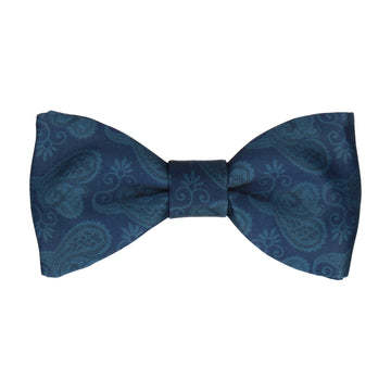 Navy Blue Vintage Paisley Paisley Bow Tie
