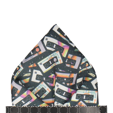 Retro Cassettes Pocket Square