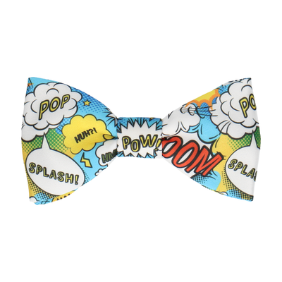 Blue Comic Book Superhero Bow Tie