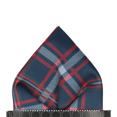 Magnus in Navy & Red Pocket Square