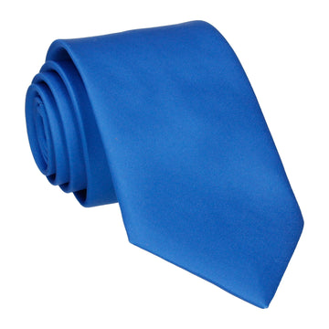 Plain Solid Royal Blue Tie