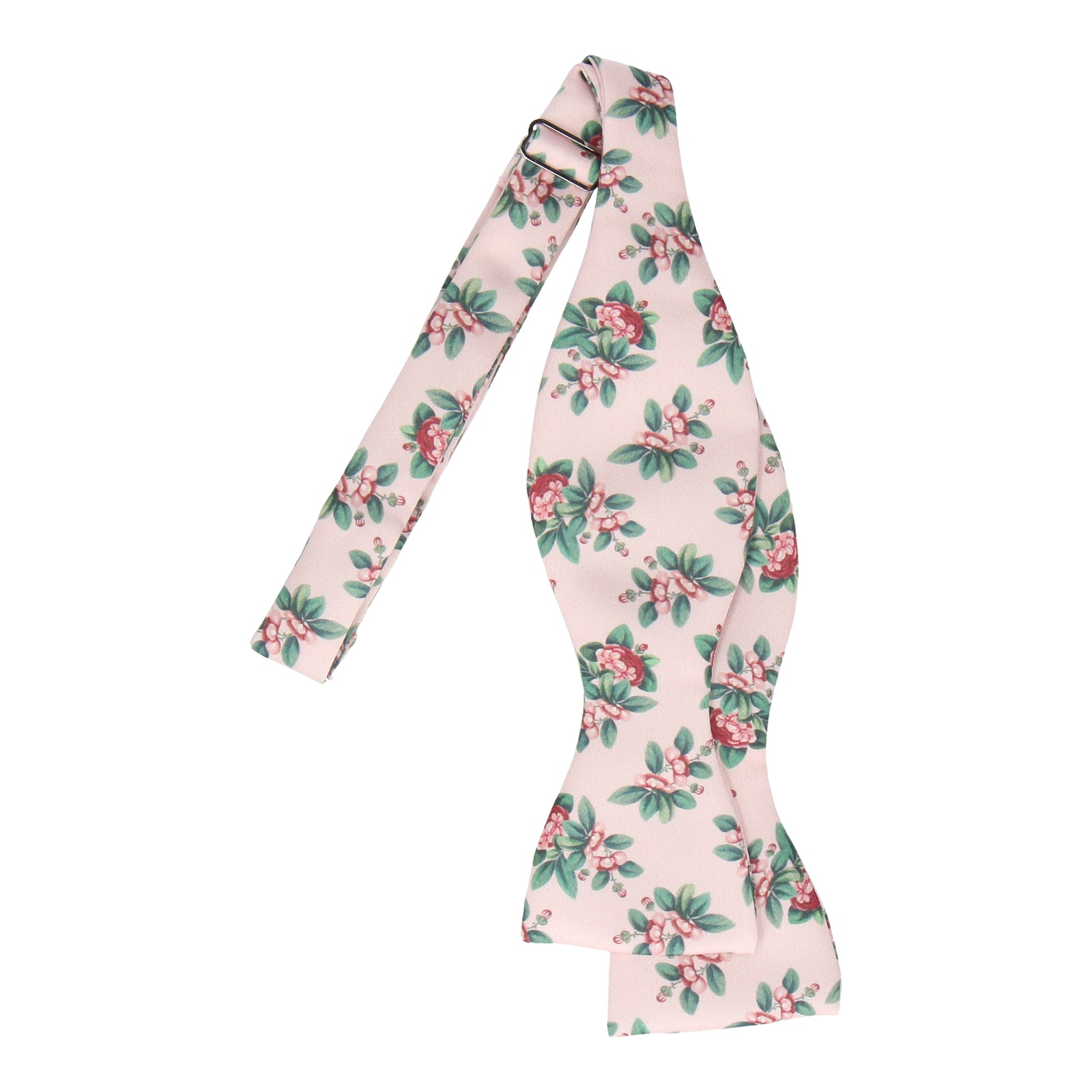 Pink Japanese Floral Bow Tie