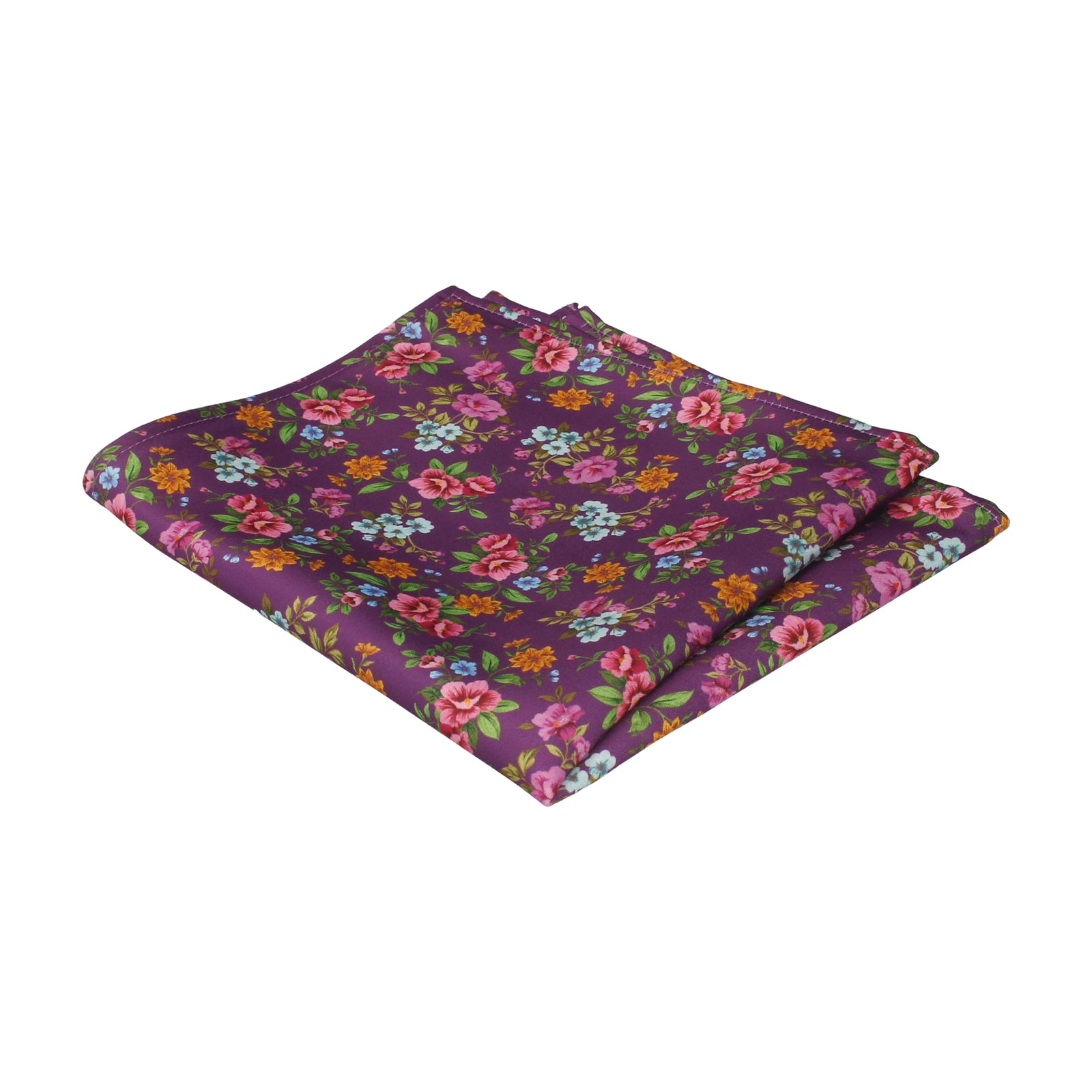 Floral Orchid Purple Wedding Pocket Square