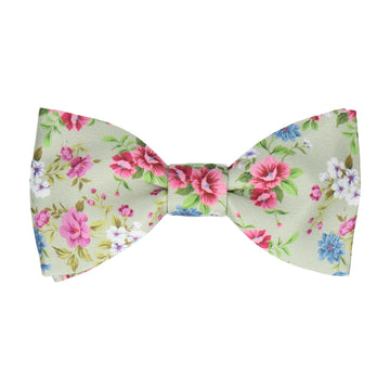 Floral Sage Green Wedding Bow Tie