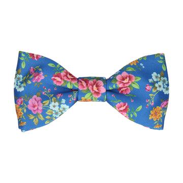 Floral Royal Blue Wedding Bow Tie