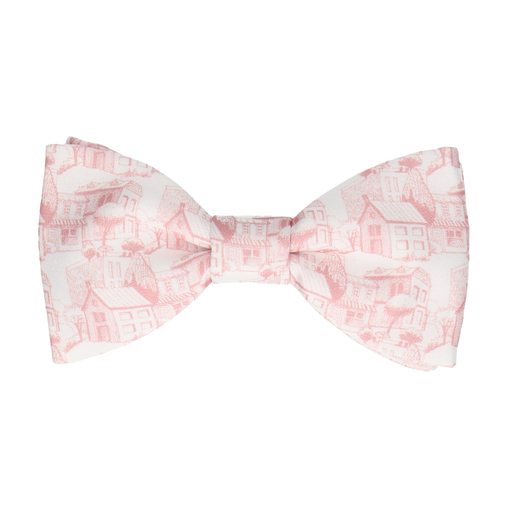 Provence Pink & White Bow Tie