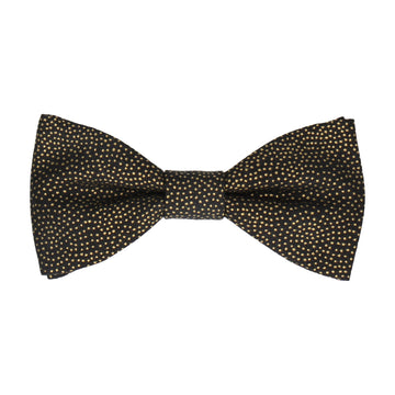 Gold Metallic Dots Black Bow Tie