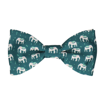Indian Elephants Evergreen Bow Tie
