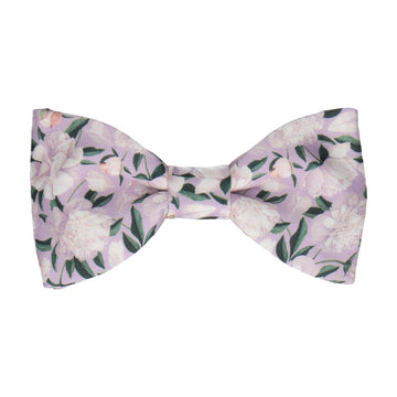 Purple Peonies Wedding Bow Tie