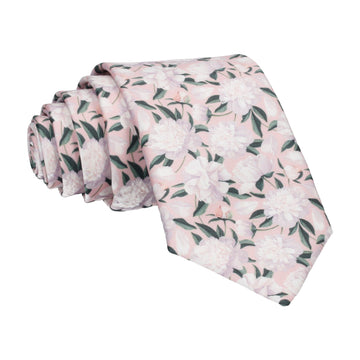 Pink Peonies Wedding Tie