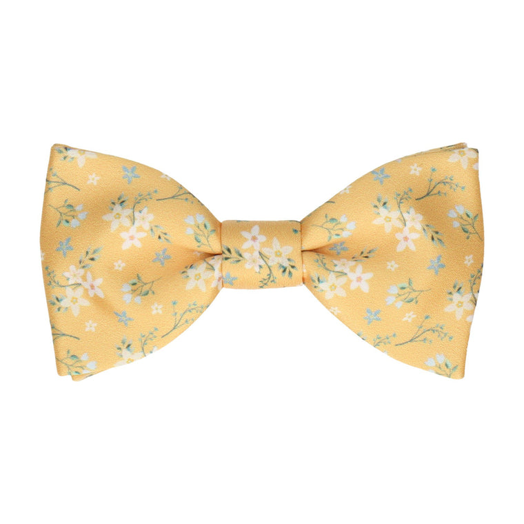 Yellow Small Flower Floral Bow Tie